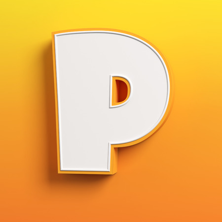 tipos de letras: dibujos animados 3D fuente de la letra P Foto de archivo