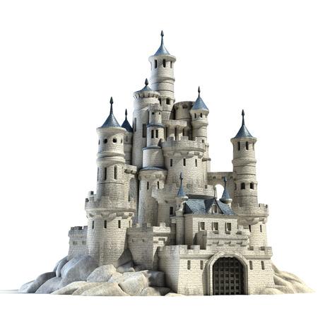 castillos: castillo 3d ilustración Foto de archivo