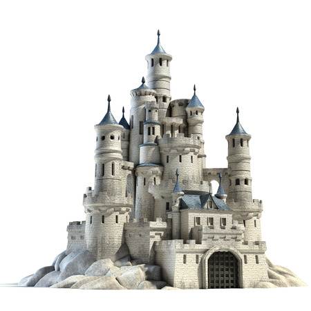 maquette: castle 3d illustration