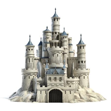 castillo medieval: castillo 3d ilustración Foto de archivo