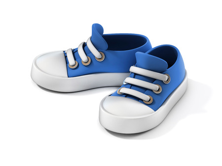 baby shoes: cartoon sneakers 3d illustration