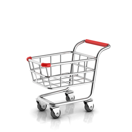 shopping cart: shopping cart 3d icon Stock Photo