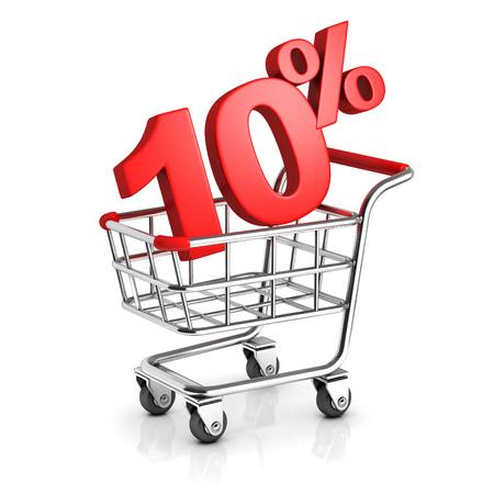 cart: 10 percent discount in shopping cart