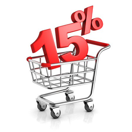 15: 15 percent discount in shopping cart