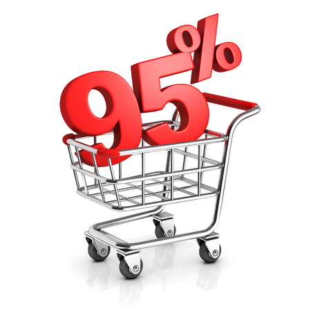 95: 95 percent discount in shopping cart