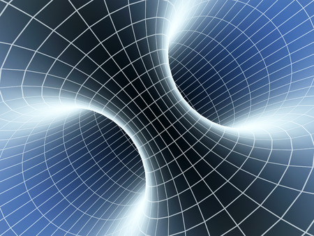 kosmische wormhole, ruimtevaart 3d concept