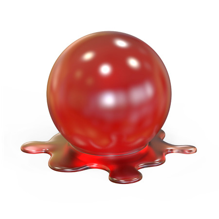 red sphere: red melting sphere