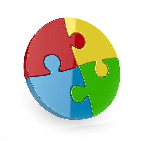 piece: four piece 3d puzzle