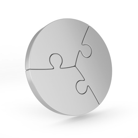 piece: three piece circular puzzle Stock Photo