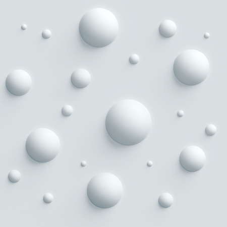illustration abstract: seamless bubbly 3d background Stock Photo