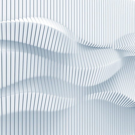 panels: abstract surface made of vertical panels forming wavy 3d geometry Stock Photo