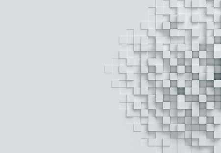 kubieke achtergrond 3D-rendering