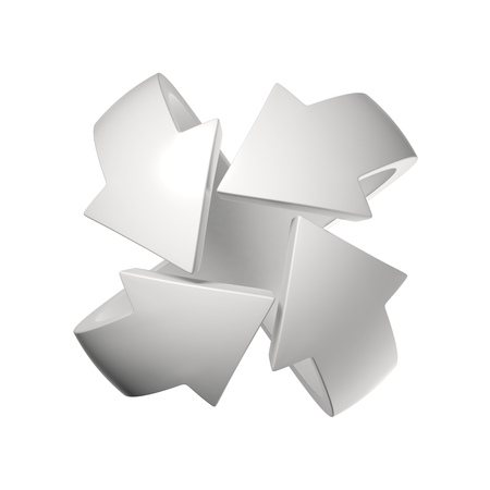 circular arrows 3d rendering
