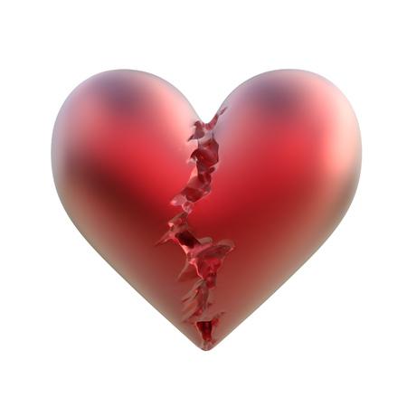 depression: broken heart 3d illustration