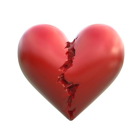 heart 3d: broken heart 3d illustration