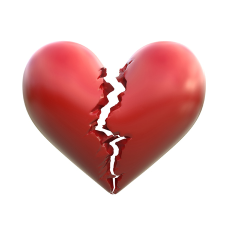 broken heart 3d illustration Stock fotó - 63149773