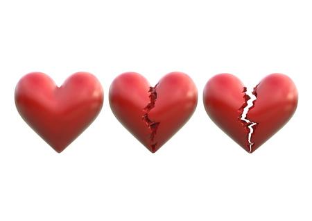 scar: broken heart 3d illustration