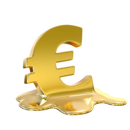 euro: Euro meltdown Stock Photo