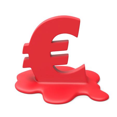 meltdown: Euro meltdown Stock Photo