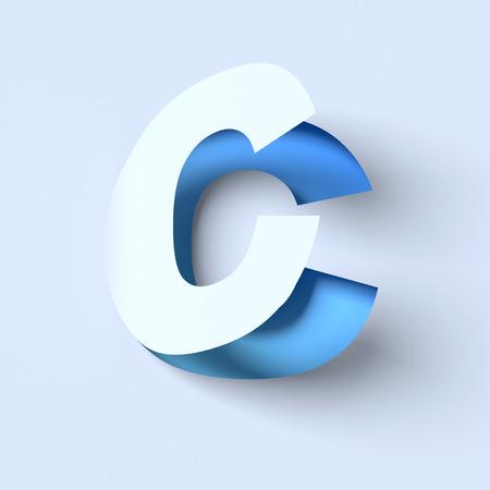 cut out paper: cut out paper font letter C