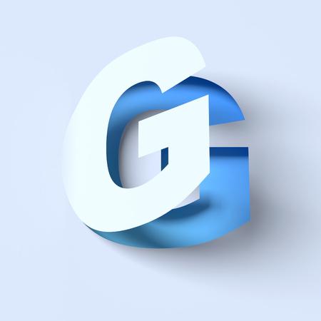 cut out paper font letter G Stock Photo