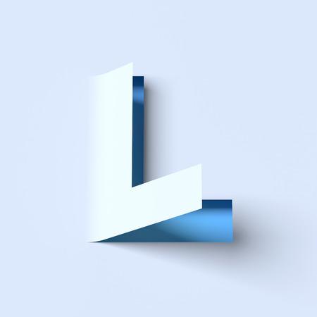 cut out paper: cut out paper font letter L