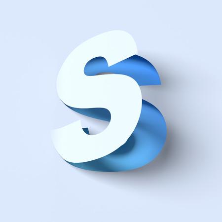 cut out paper: cut out paper font letter S