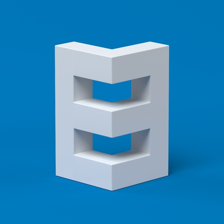 Isometric font number 8 3d