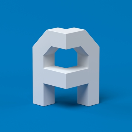 Isometric font letter A 3d Stock Photo