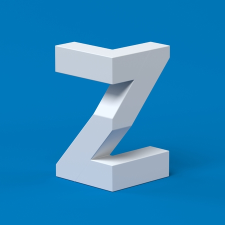 orthographic symbol: Isometric font letter Z 3d Stock Photo