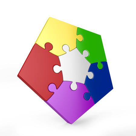 piece: five piece 3d puzzle