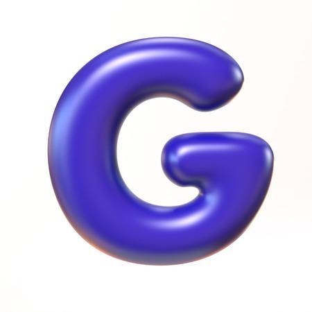 bubbly: Bubbly 3d font letter G