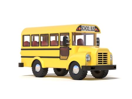 yellow schoolbus: school bus 3d rendering