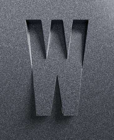 手紙 W 斜め 3 d フォントが刻まれ、押出材 写真素材