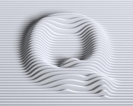 q: linear 3d font letter Q
