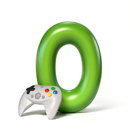 Toy font number 0 3d rendering