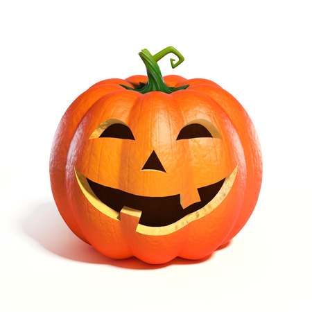 Halloween Pumpkin Jack O Lantern 3d rendering Stock Photo
