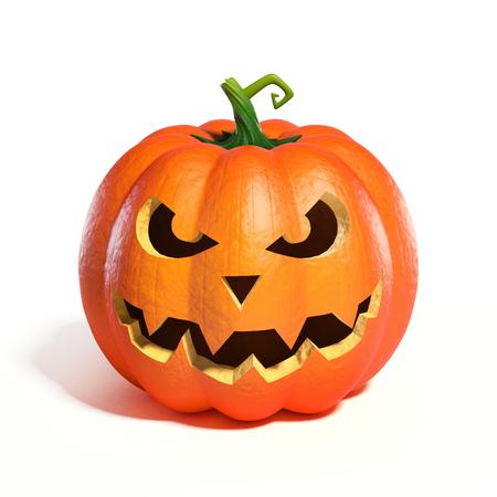 Halloween Pumpkin Jack O Lantern 3d rendering Stock Photo