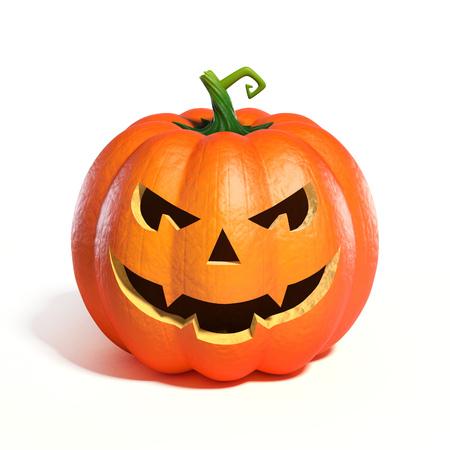 Halloween-Kürbis Jack O Lantern 3D-Rendering