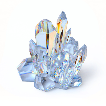 crystal 3d illustration