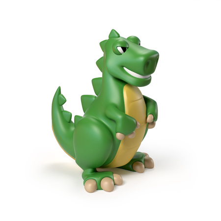 dinosaur toy 3d rendering Stock Photo