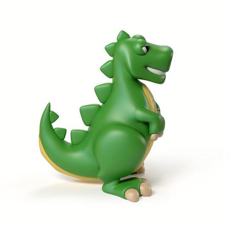 dinosaur toy 3d rendering Stock Photo