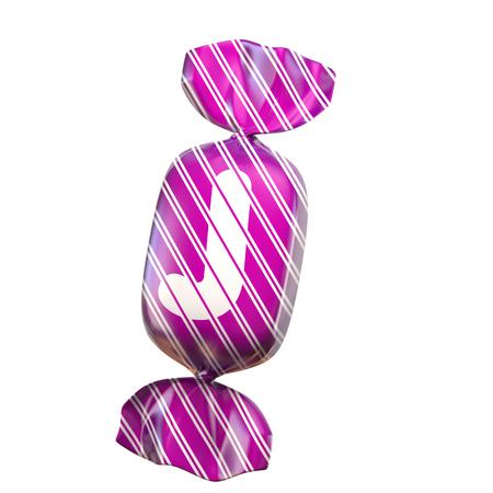 Candy 3d font letter J Stock fotó