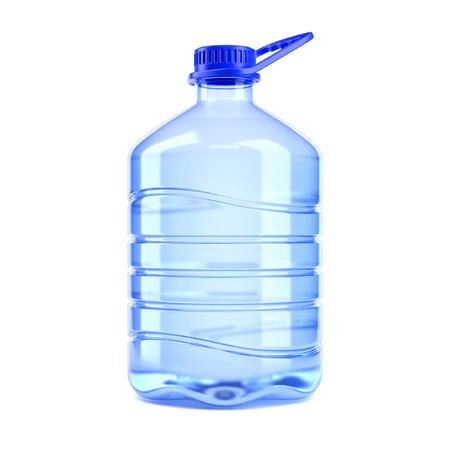白い背景の 3 d レンダリングの水の大きなボトル