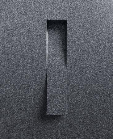 Letter I slanted 3d font engraved