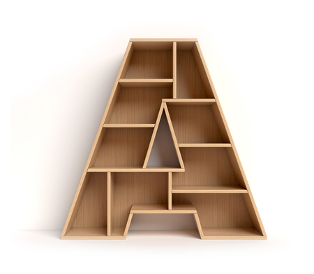 Letter A shaped shelves