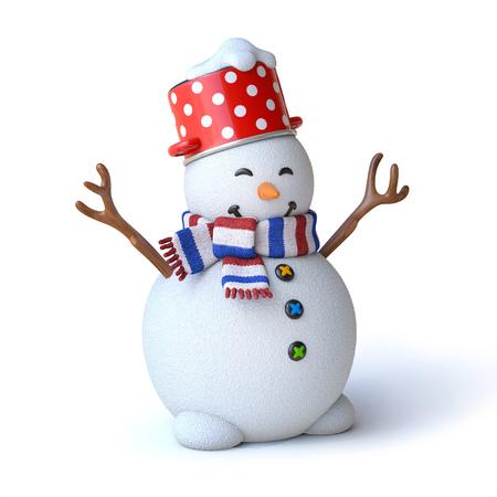 new: snowman 3d rendering