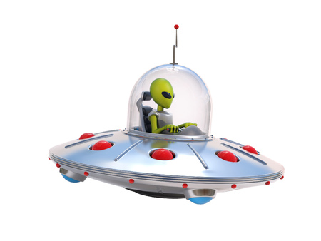 Alien spaceship, flying saucer
