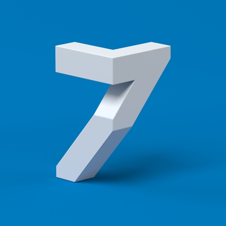 Isometric font number 7 Stock Photo