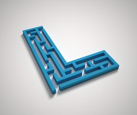 Maze font letter L Stock fotó